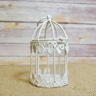 "4.5"" Classical Birdcage Round Tealight Candle Lantern"