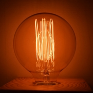 40-Watt Incandescent G95 Globe Vintage Edison Light Bulb, Squirrel Cage Filament, E26 Medium Base