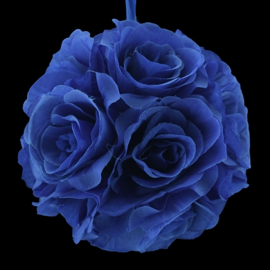 "6"" Navy Blue Rose Flower Pomander Small Wedding Kissing Ball for Weddings and Decoration"