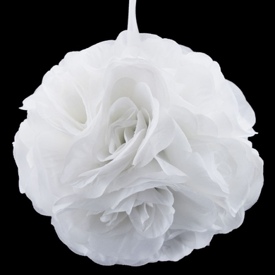 "6"" White Rose Flower Pomander Small Wedding Kissing Ball for Weddings and Decoration"