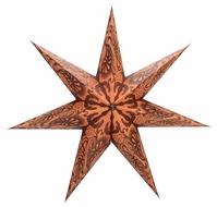 "24"" 7 Point Terracotta Fantasy Paper Star Lantern, Hanging (Light Not Included)"