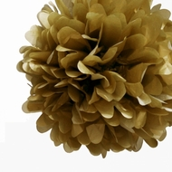 """8"""" Gold Tissue Paper Pom Pom Flowers, Hanging Decorations (4 PACK)"""