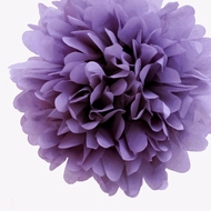 "8"" Lavender Tissue Paper Pom Pom Flowers, Hanging Decorations (4 PACK)"