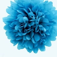 "BLOWOUT 8"" Turquoise Tissue Paper Pom Pom Flowers, Hanging Decorations (4 PACK)"