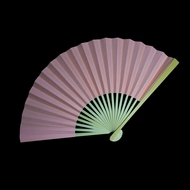 "9"" Rose Quartz Paper Hand Fans for Weddings, Premium Paper Stock (10 Pack)"