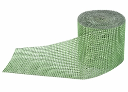BLOWOUT Apple Green Diamond Bling Wrap Roll - 30 FT