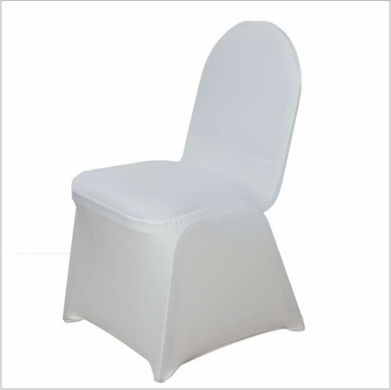 Beige / Ivory Form Fitting Stretch Fabric Full Chair Cover