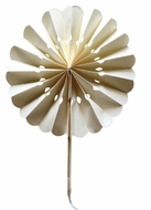 "8"" Beige / Ivory Pinwheel Paper Hand Fans for Weddings (10 PACK)"