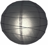Black Crisscross Ribbing Paper Lanterns