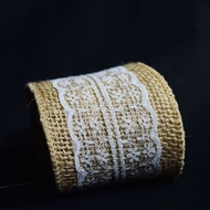 Burlap and Lace Style No.5 Fabric Wrap Roll (2.4 x 6 Ft)