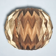 Copper Round Geometrical Shaped Folding Paper Lantern Shade