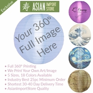 Custom Printed 360 Full Image Promotional Nylon Lanterns