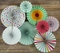 Easter Paper Flower Pinwheel Backdrop Party Wall Decoration Combo Kit