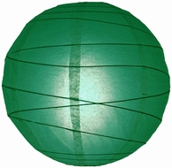 Emerald Green Crisscross Ribbing Paper Lanterns
