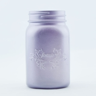 Fantado Regular Mouth Frosted Wisteria Purple Mason Jar w/ Handle, 16oz / 1 Pint