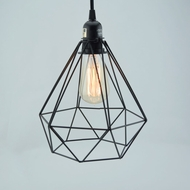 Geometric Diamond Vintage Edison Light Bulb Cage for Pendant Lights