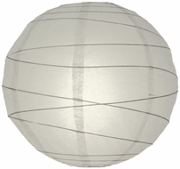 Gray / Grey Crisscross Ribbing Paper Lanterns