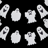 Halloween Ghosts Paper Garland Banner (10FT)
