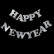 Happy New Year's Eve Party Paper Letter Garland Banner (10FT)