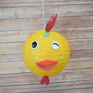 "8"" Paper Lantern Animal Face DIY Kit - Chicken (Kid Craft Project)"