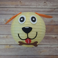 "8"" Paper Lantern Animal Face DIY Kit - Dog (Kid Craft Project)"