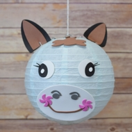 "BLOWOUT 8"" Paper Lantern Animal Face DIY Kit - Horse / Pony (Kid Craft Project)"