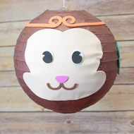 "8"" Paper Lantern Animal Face DIY Kit - Monkey Chinese New Year (Kid Craft Project)"