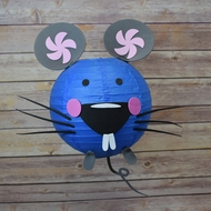 "8"" Paper Lantern Animal Face DIY Kit - Mouse (Kid Craft Project)"