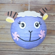 "BLOWOUT 8"" Paper Lantern Animal Face DIY Kit - Sheep / Lamb (Kid Craft Project)"