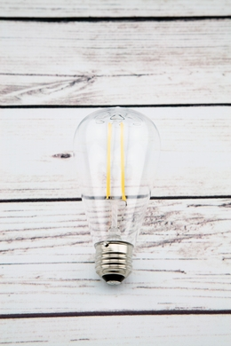 LED Filament ST64 Shatterproof Light Bulb, Dimmable, 2W,  E26 Medium Base