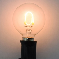 LED Filament Light Bulb, G40, Vintage Look, Energy Saving, E12 Base (5 PACK)