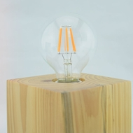 LED Filament Light Bulb, G80, Vintage Look, Energy Saving, E26 Base, 6 Watts