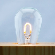 LED Filament Light Bulb, S14, Vintage Look, Energy Saving, E26 Base (5 PACK)