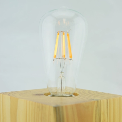 LED Filament Light Bulb, ST64, Vintage Look, Energy Saving, E26 Base, 6 Watts