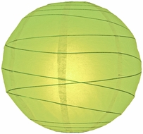 Light Lime Green Crisscross Ribbing Paper Lanterns