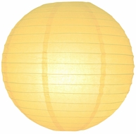 Lemon Yellow Chiffon Round Even Ribbing Paper Lanterns