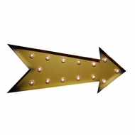 Marquee Light Gold Arrow Shape LED Metal Sign (Battery Operated)