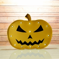 Marquee Light Jack-O-Lantern 1 LED Metal Sign (Battery Operated)