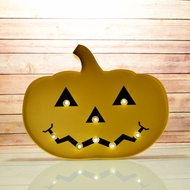 Marquee Light Jack-O-Lantern 2 LED Metal Sign (Battery Operated)