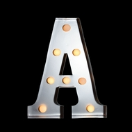 Marquee Light Letter 'A' LED Metal Sign (10 Inch, Battery Operated)