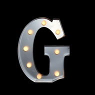 BLOWOUT Marquee Light Letter 'G' LED Metal Sign (10 Inch, Battery Operated)