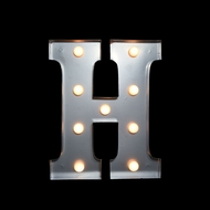 BLOWOUT Marquee Light Letter 'H' LED Metal Sign (10 Inch, Battery Operated)