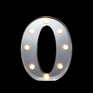 Marquee Light Letter 'O' LED Metal Sign (10 Inch, Battery Operated)