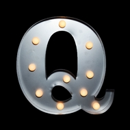 BLOWOUT Marquee Light Letter 'Q' LED Metal Sign (10 Inch, Battery Operated)