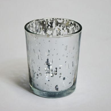 Mercury Glass Votive Tea Light Candle Holder - Silver (2.5 Inches) (6 PACK)