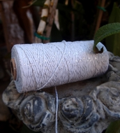 Metallic Silver Bakers Twine Decorative Craft String (110 Yards)