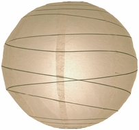 Mocha / Light Brown Crisscross Ribbing Paper Lanterns