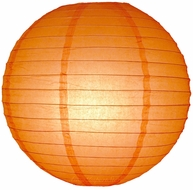 Orange Round Even Ribbing Paper Lanterns
