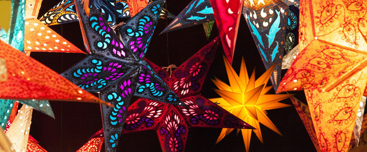 Paper Star Lanterns - Star Lamps