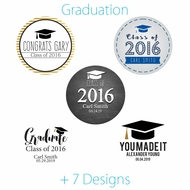 Personalized Graduation Favor Circle Label Stickers for Party Favors & Invitations